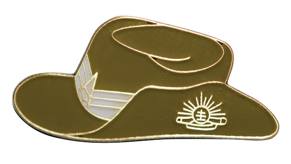 Enamel Slouch Hat Badge