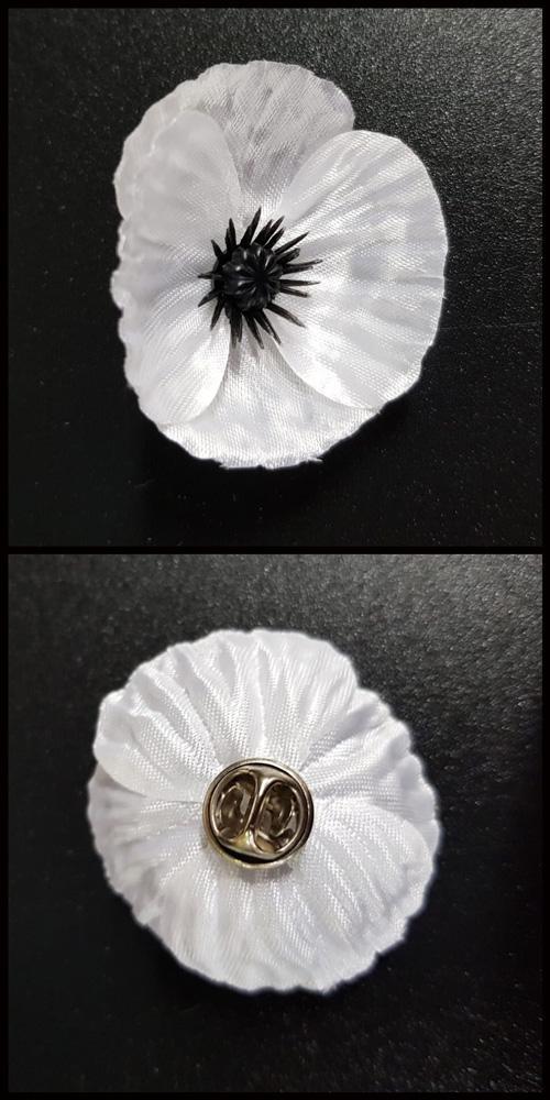 Pin Badge - White - FirstLight Trust